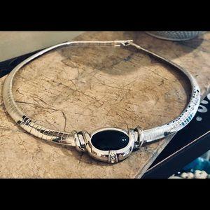 Retired Premier Designs Silver Necklace W/Slider